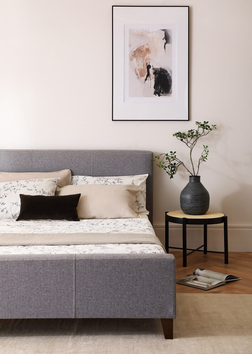 master bedroom in neutral tones,grey and neutral bedroom,japanese and scandinavian design,how to decorate japandi style,japandi bedroom design,