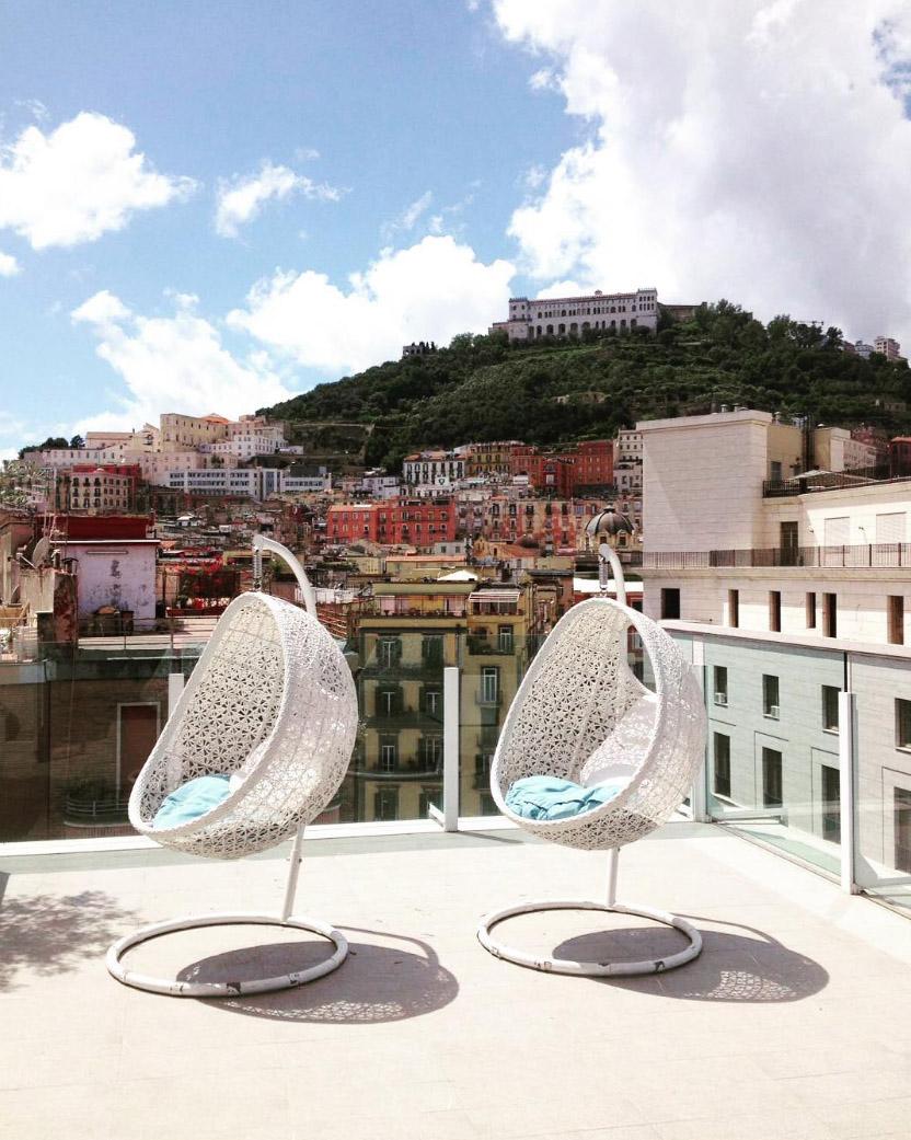 Grand Hotel Oriente,Naples,Italy,hospitality design,hospitality,hotel design,hotels,outdoor furniture,Varaschin,travel,travel ideas,travel inspiration,travel destinations