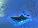 hotel de glace quebec city ice hotel.romantic ideas ice hotel night,blue led lights for bedroom,guest room design winter theme,wall art made of ice and snow,