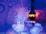 ice hotel quebec city bar,winter inspired bar designs,fireplace in ice hotel,creative hospitality designs,ice architecture interior design,