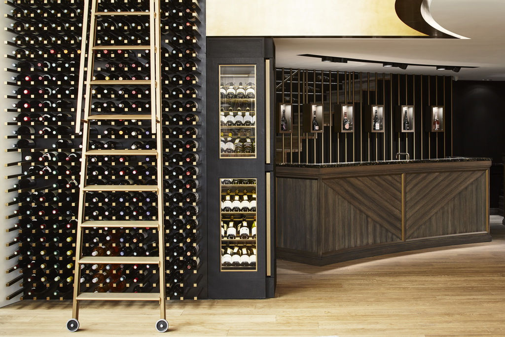wine cellar design ideas,Monaco concept store,luxury retail store design,wine store design,Humbert & Poyet,