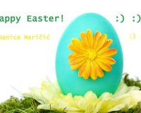 happy Easter wishes for family and friends,danica maricic,Easter eggs with flowers,blue color Easter eggs,Easter egg decorating ideas,