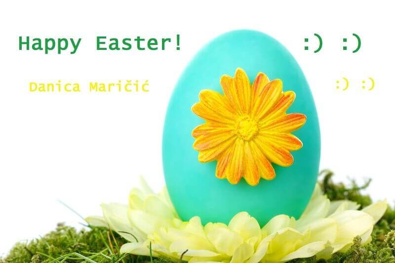 blue color Easter eggs,Easter egg decorating ideas,happy Easter wishes for family and friends,Easter eggs with flowers,danica maricic,