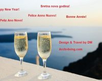 romantic Happy New Year wishes,romantic New Years eve ideas,Happy New Year beautiful images,champagne glasses Happy New Year,Happy New Year sea images,