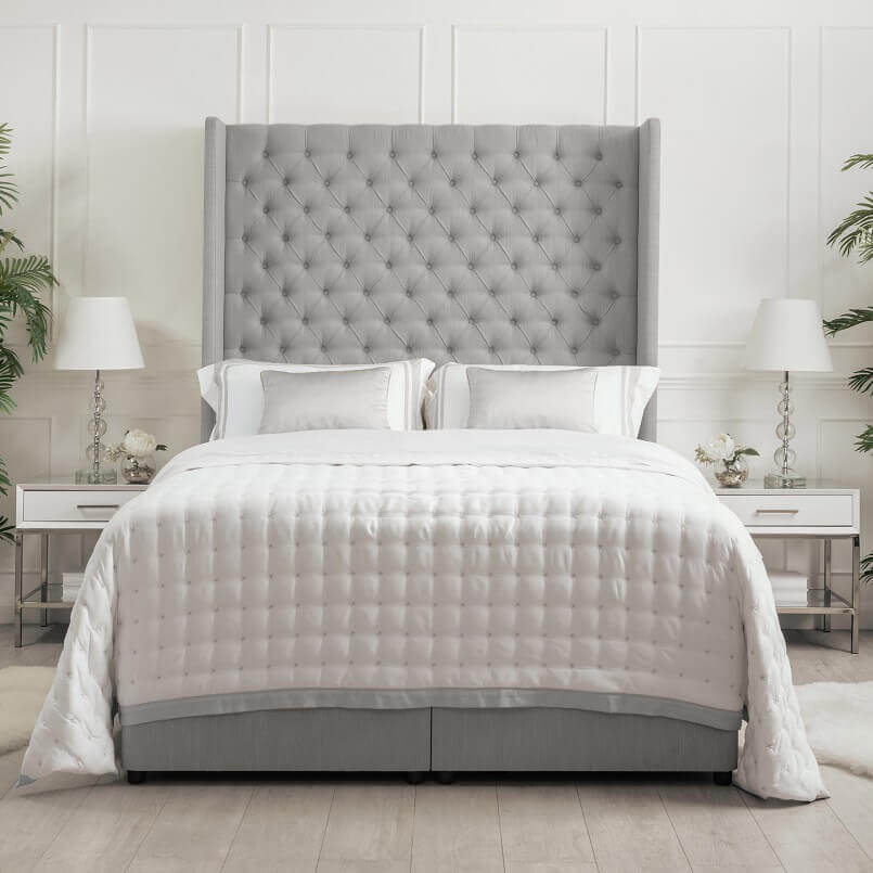 storage beds double grey,beds with storage underneath,lift up bed with storage underneath,bed with high headboard,contemporary bedroom design ideas,