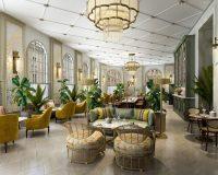 hotel café interior design,hotel restaurant design,heritage hotels in Europe,boutique hotel Zagreb,HBA London design,