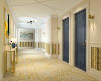 boutique hotel corridors,hotel room design,boutique hotel interior design,bespoke hotels,heritage hotel Zagreb,
