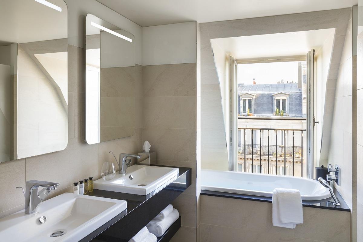 bathroom,bathroom decor,bathroom ideas,luxury bathrooms,luxury bathroom designs,designer bathroom,bathroom furniture,bathroom sink,bathroom vanities,bathroom storage units,bathroom interior,wash basin,bathroom showers,shower,spa design,spa design ideas,modern spa design ideas,modern spa design,luxury spa,luxury spa design,design spa,spa designers,spa decor,spa decor ideas,wellness,wellness design,hotel spa,hotel spa design,hotel spa wellness,hotels bath,Maison Albar Hotel Paris Céline,Paris,France,bedroom,hotel room,bedroom designs,hotel room design,hotel room ideas,hospitality design,hospitality,hotel design,hotels,accommodation,travel destinations,travel attractions,travel inspiration,interior design,interior decorating,