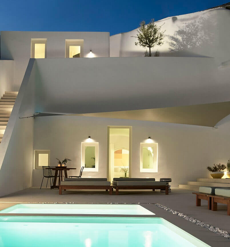 outdoor designs with pool,how to create an outdoor dining area,modern greek architecture houses,greek island houses design,contemporary garden furniture ideas,