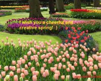 wish you happy spring,spring wishes images,seasonal greetings wishes,creative spring wish you happy,spring greeting card sayings,