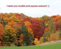 restful autumn wishes,joyous autumn wishes,seasonal greetings wishes,autumn greeting cards,autumn wishes images,