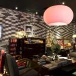 hotel restaurant ideas,The Yard Hotel in Milan,hotels in Italy,pink lampshade ideas,restaurant design,