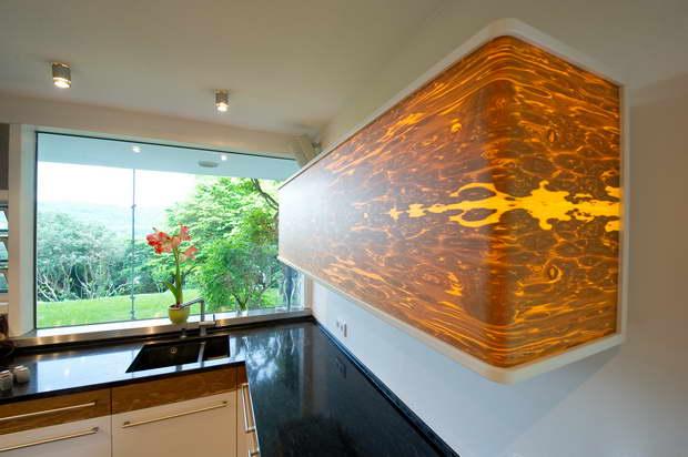 wood veneer lighting. Let There Be Light: Illuminated Veneer Makes Furniture Magically Unique Wood Lighting