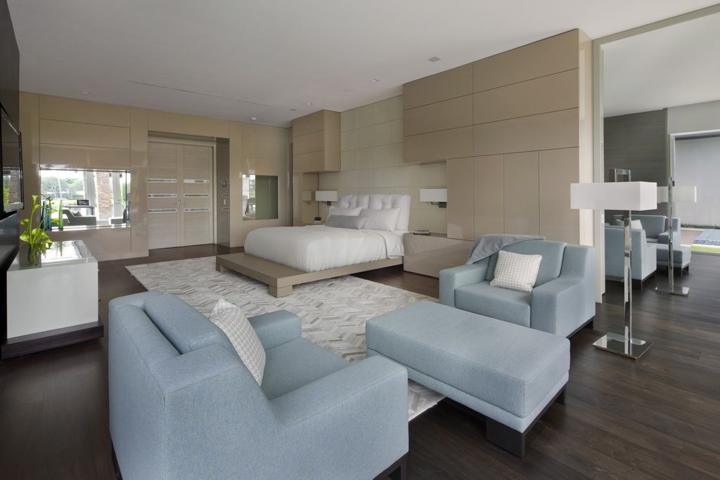 blue seating furniture design,luxury bedroom design ideas,bedroom in neutral and blue accents,high end homes interiors,interior design project,