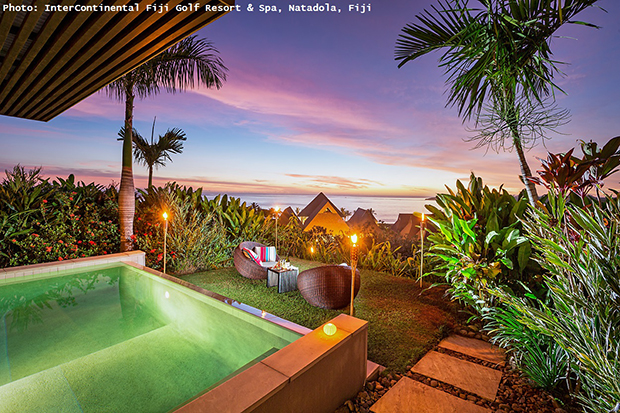 romantic travel activities,intercontinental hotels fiji golf resort & spa,swimming pool dinner,dinner for two ideas,travel for couples,