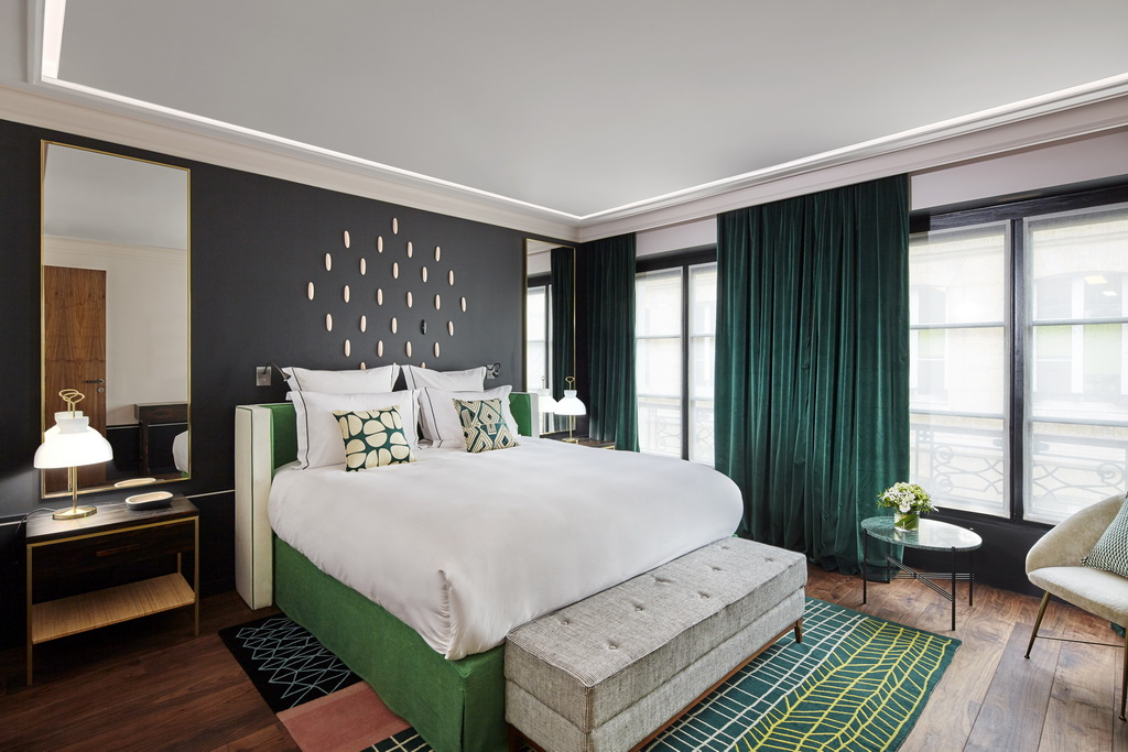 green and white bedroom decor,best colors for bedroom,stylish hotels paris,hotel room interior design ideas,design hotels paris,