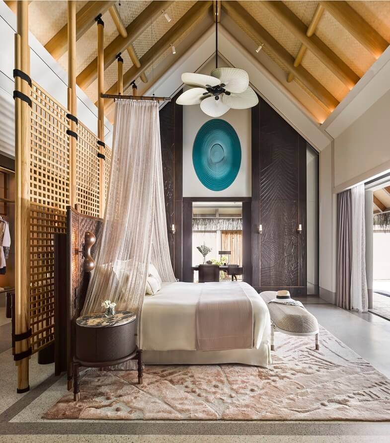 luxury resorts maldives,luxury hotel room design,joali maldives rooms,ethnic room decor ideas,neutral colors in bedroom,