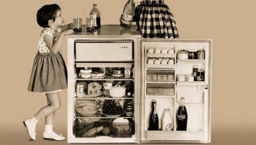 food storage fridge,old fridge photo,kitchen history of the home,kitchen design ideas,home design history,