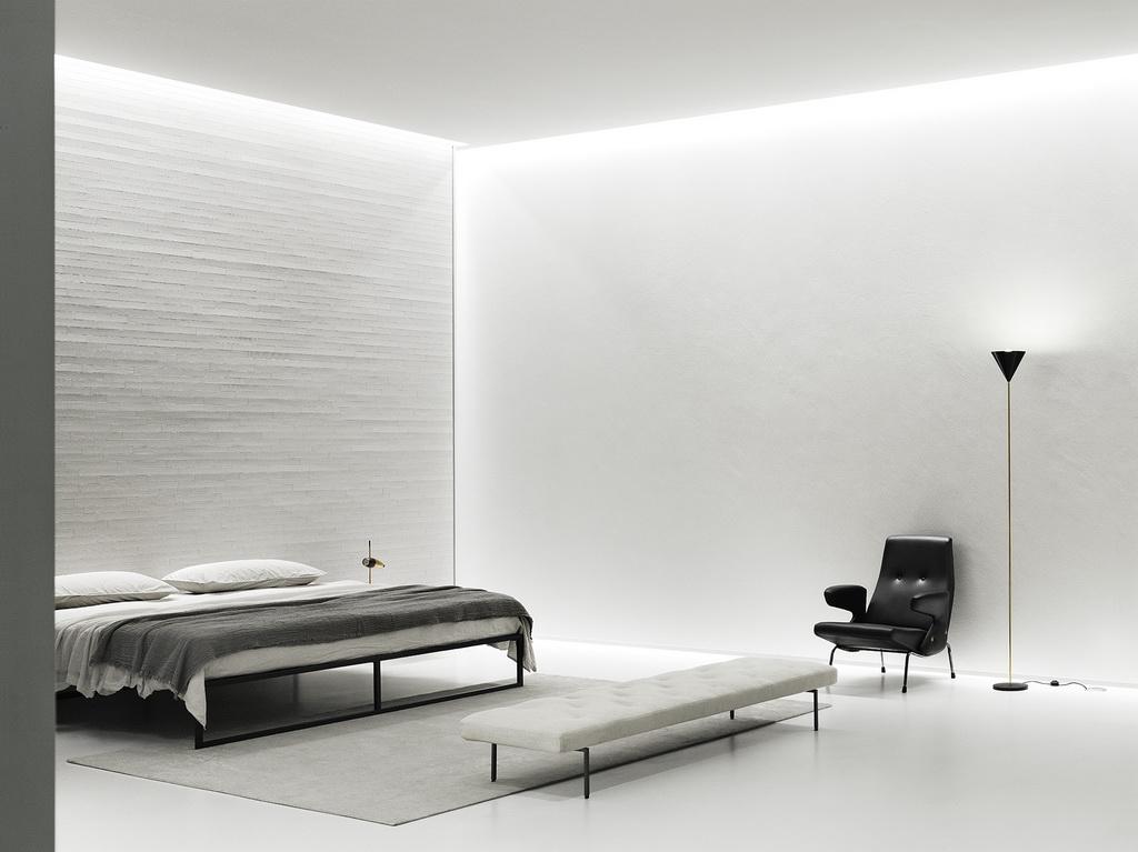 white bedroom ideas modern,black armchair in white bedroom ideas,neutral color palette master bedroom,black white and gray interior design,exhibition design bedroom,
