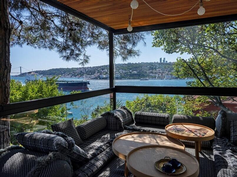 ofist design studio,terrace with sea view,terrace design in istanbul turkey,best view of bosphorus,outdoor furniture ideas photos,