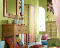 colorful bedroom decor ideas,blue green and pink bedroom,painted furniture bedroom ideas,floral decor for home,colorful furniture living room,