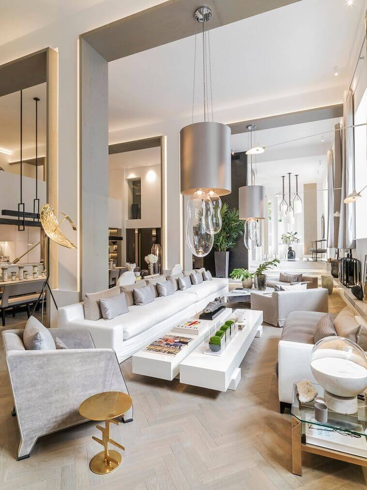 kelly hoppen interiors images,luxury living room design ideas,gray and white living room,interior designers homes,golden colour floor lamp,
