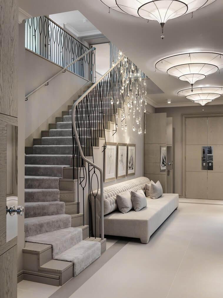 luxury entrance hall decorating ideas,iron railing for stairs,entrance design ideas for house,luxury iron railing custom made,kelly hoppen interior design ideas,