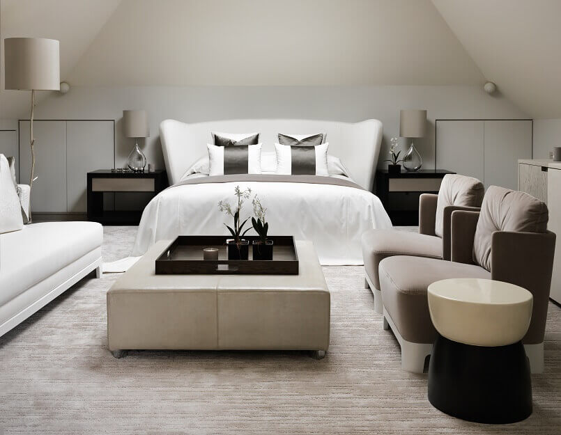 neutral color bedroom ideas,kelly hoppen interior design projects,modern luxury master bedroom design,kelly hoppen master bedroom design,high end residential interior designers london,
