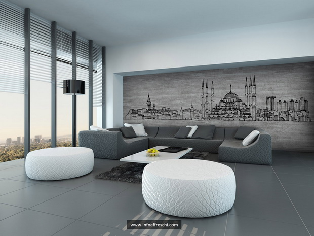 L Affreschi Wallart Istanbul Architecture Living Room Design Archi Resize