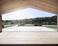 lake house architecture designs,völser weiher lake house,south tyrol architecture,recreational facilities design,noa network of architecture design,