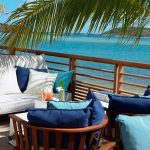 le barthélemy hotel & spa st barths,st barts hotels on the beach,luxury hotels caribbean islands,blue and white outdoor chair cushions,tropical hotel terrace design,