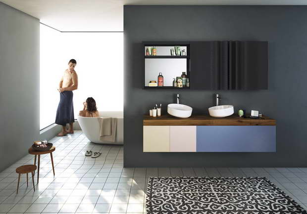 Lea ceramiche and lago the partnership continues in the for Lago mobili bagno