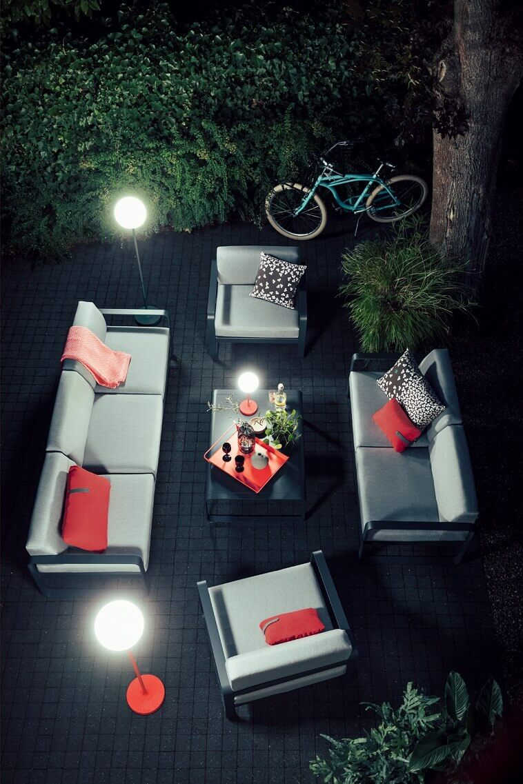 outdoor floor lights modern,red and grey living room decorating ideas,french garden furniture company,tristan lohner fermob,outdoor living space lighting,