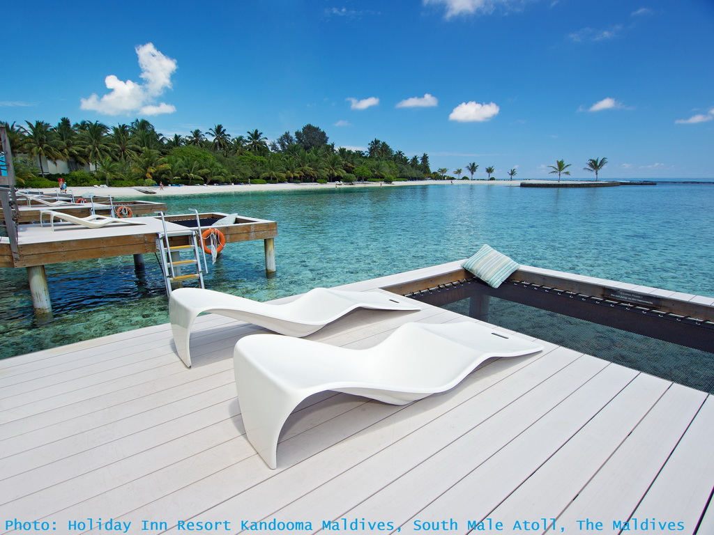holiday inn resort kandooma maldives,south male atoll,the maldives,sun loungers,outdoor,outdoor furniture,outdoor sofa,garden design,design,garden furniture,terrace,balcony,outdoor design,sea view,seaview bungalows,luxury seaview bungalows,hospitality design,hospitality,hotel design,hotels,travel attractions,travel inspiration,travel ideas,family holidays,family holiday ideas,romantic travel,romantic vacations,luxury hotels,hotel design ideas,hospitality design ideas,blue sky,blue sea,beach holidays,sandy beach,