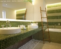 green mosaic tile bathroom,green bathroom ideas,hotel design ideas,hotels in brazil south america,design hotels brazil,
