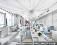 white restaurant design,design hotels in malaysia,blue and white interior design ideas,