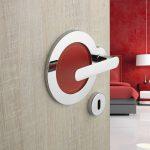 red door handle ideas,chrome door handle,bedroom door handle design,chrome and red door handles,italian design door handles,