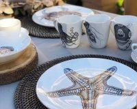 starfish inspired dinner tableware,spanish tableware manufacturers,handmade porcelain dinnerware,porcelain tableware manufacturers in europe,ocean inspired tableware,