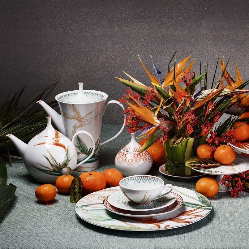 handmade tea set porcelain,tea set nature themed,luxury tea set design,porcelain tea set for adults,porcelain tableware manufacturers in europe,