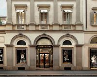 Montenapoleone,Milano,Italy,Louis Vuitton store,luxury fashion shops,