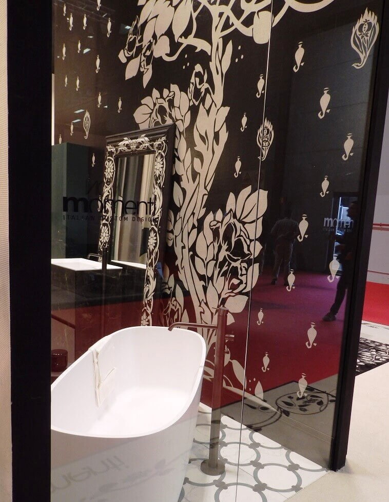 momenti italian custom design,decorative walls for bathrooms,home decor large mirrors,beige white black bathroom,hotel bathroom design trends,