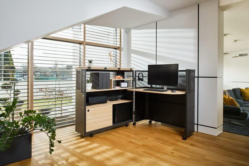 real office at home design ideas,lockable home office furniture,black wood desks home office,awarded home office ideas,german design council iconic awards,