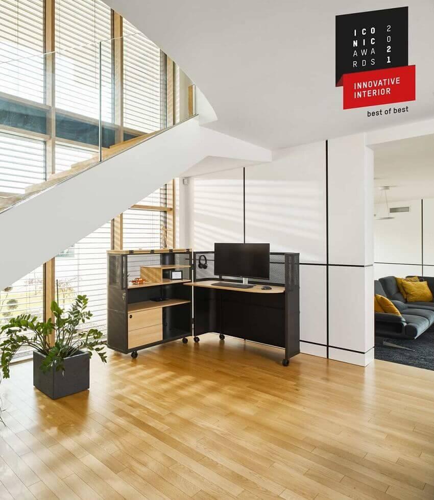 german design council iconic awards,modern mobile office furniture,ured kod kuce,workspace design furniture,innovative home office desk ideas,