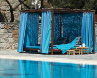 Mykonos Theoxenia, Mykonos, Greece, Design Hotels, Hotel Design, Blue Color, Poolside, Swimming Pool, Pool Lounge, Travel Ideas