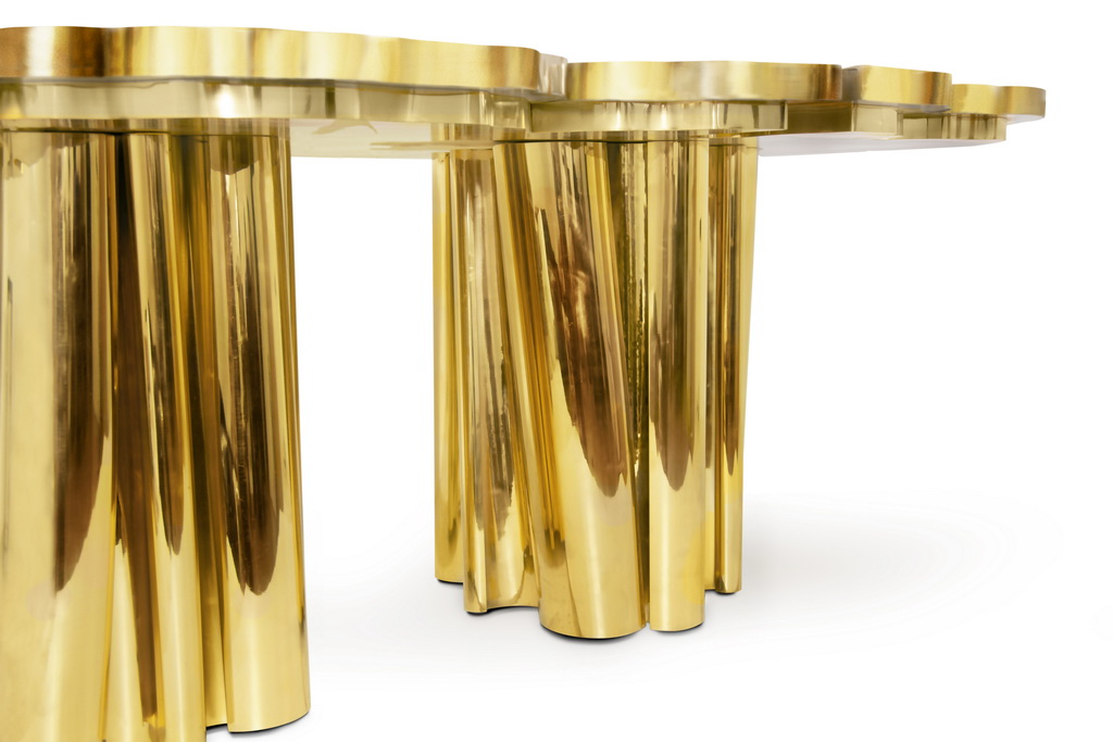 gold dining room table ideas,gold furniture ideas,gold painted furniture ideas,luxury dining room design,luxury dining room,