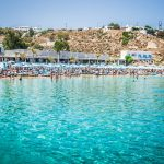 nammos mykonos,mykonos,Greece,Psarou Beach,beaches in Greece,sandy beach,famous beaches,sun loungers,parasol,parasol design,tuuci,restaurants,restaurant design,best restaurants,best restaurants in Greece