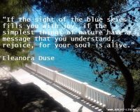if the sight of blue skies fills you with joy,eleonora duse quotes,quotes about nature and sky,image quotes about joy,adriatic sea islands hvar,