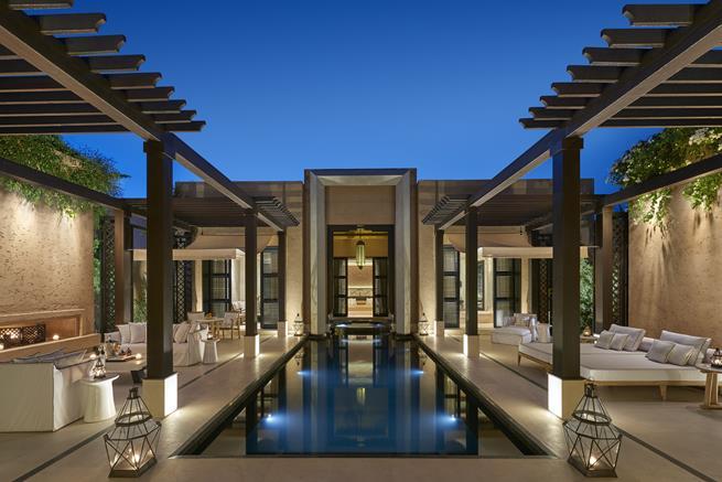 mandarin oriental poolside,pool lounge in luxury hotel,luxury hotel design ideas garden,travel destinations morocco,romantic weekend in morocco,