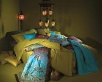 Bedroom, Bedroom Décor, Blue Color, Green Color, Bedding, Bedding Design, Odeja, Oriental Lamps