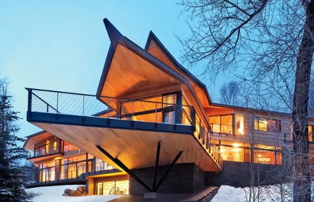 Captivating Peter Marinou0027s Rocky Mountain Ski Retreat